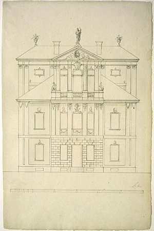 Tylman van Gameren - Van Gameren's design of the Kotowski Palace in Warsaw, c. 1682