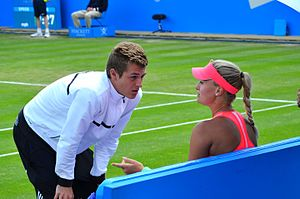 Kristina Mladenovic - Mladenovic with her brother Luka at the Aegon Classic