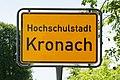 Kronach - Ortstafel Hochschulstadt Kronach - 2021.jpg