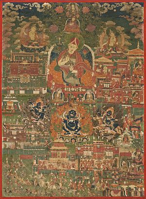 Sakya Monastery - Kunga Tashi and Incidents from His Life (Abbot of Sakya Monastery, 1688–1711)