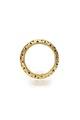 Kupig ring av guld med genombrutet rosettmönster, invändigt fylld med svart massa - Skoklosters slott - 92275.tif