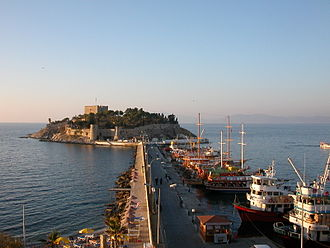 """Kuşadası - Güvercinada (Pigeon Island) near the town center is the namesake of Kuşadası (""""Bird Island"""")."""