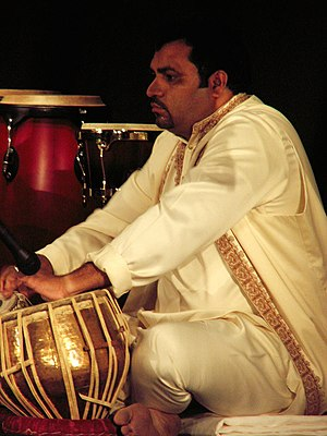 Culture of Eastern Arabia - Tabla player at the 8th International Music Festival in Kuwait.