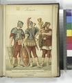 Légionnaire romain (légion gauloise) - bucinator (trompette); Aquila (NYPL b14896507-1235282).tiff