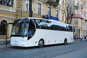 Economy of Ukraine - LAZ-5208DL built by Lviv Bus Factory