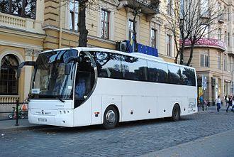 Economy of Ukraine - LAZ-5208DL built by Lviv Bus Factory