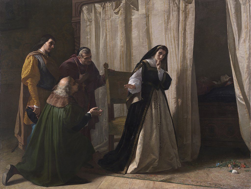 La demencia de Juana. Lorenzo Vallés, 1867