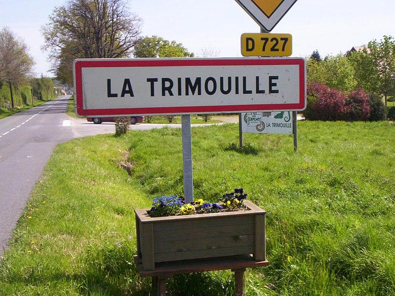 Panneau d'entrée ville La Trimouille
