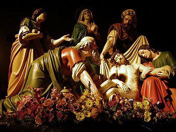 La deposizione nel Sepolcro (Deposition in the Sepulchre), Antonio Brilla 1866