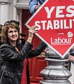 Labour Party Leader Eamon Gilmore, Deputy Leader Joan Burton and Labour TD John Lyons launched Labour's latest Stability Treaty poster today (7234438690).jpg