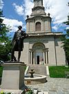 Lafayette College Easton PA 36 campus view statue fountain.jpg