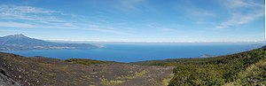 Llanquihue Lake - The lake as seen from Osorno volcano with Calbuco visible on the left