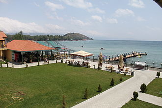 Lake Sevan - Image: Lake Sevan beach at Best Western Bohemian Resort