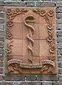 Landerd, Schaijk huis Dr.Langendijk Rijksweg 38 geveltegels met esculaap.JPG