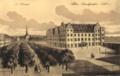 Landgrafenschloss-altes Stadtschloss Kassel AK Litho nach-Gemälde-zw-1567-1806 um 1800.png
