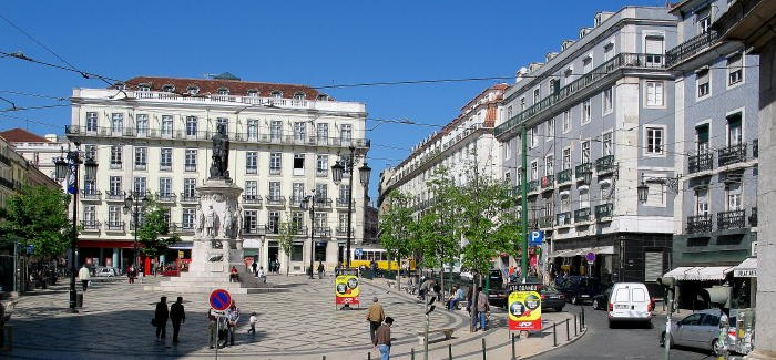 Largo Camoes in Chiado district