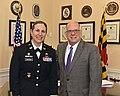 Larry Hogan and Estee Pinchasin Army Corps of Engineers Commander (51381701897).jpg