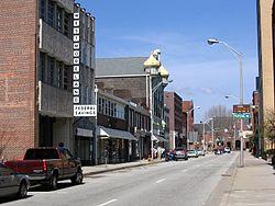 Looking down Main Street