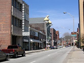 Latrobe, Pennsylvania - Looking down Main Street