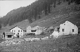 Winter of Terror - Ruined hamlet Lü Daint in the Val Müstair