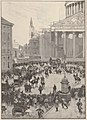 Le Monde illustré - 18 mars 1893 - Les étudiants brulant le Bonhomme Carnaval sur la place du Panthéon à l'occasion de la Mi-Carême 1893.jpg