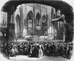 Le prophète – Act 4, scene 2, of the original production, set design by Charles-Antoine Cambon and Joseph Thierry (Source: Wikimedia)