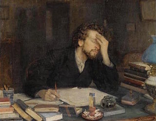 Writers block condition in which an author loses the ability to produce or experiences creative slowdown