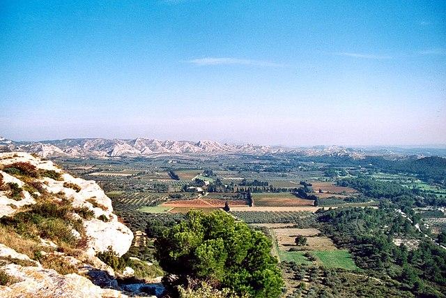 Vue sur les Baux-de-Provence
