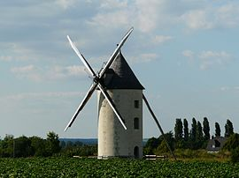 The windmill at the Saint-Marie ford
