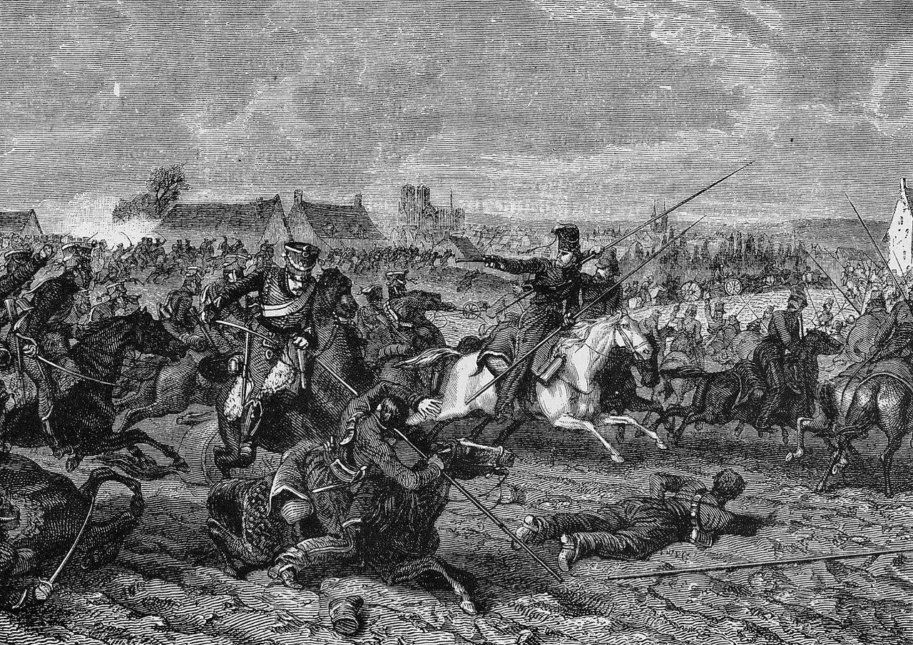 Les gardes d'honneur au combat de Reims, le 13 mars 1814.jpg