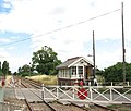 Level crossing on Station Road - geograph.org.uk - 1398998.jpg