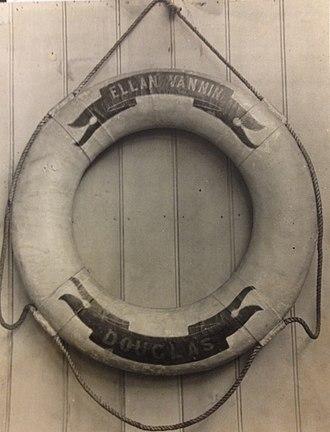 SS Ellan Vannin (1883) - Lifebuoy from RMS Ellan Vannin.