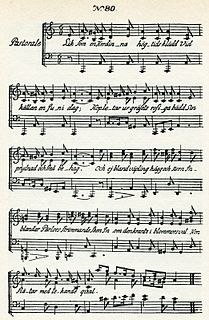 Liksom en Herdinna, högtids klädd song from the Fredmans epistlar collection by Carl Michael Bellman