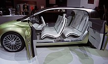 A Lincoln Concept Car C From 2009 With Rear Doors Left Side Open Note That There Is No B Pillar And Therefore Are Two