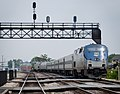 Lincoln Service train leaving Joliet Union Station, May 2011.jpg