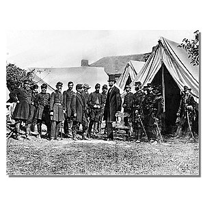 Lincoln visiting McClellan and Troops at Antietam, New York Times, 1862.JPG