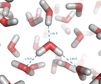 Hydrophobicity scales - Hydrogen bonds between molecules of liquid water
