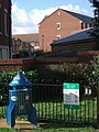 Litter bin, play area, Gras Lawn - geograph.org.uk - 686593.jpg