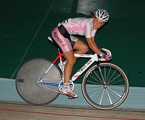 Lizzie Deignan - Armitstead at the Manchester round of the 2007 Revolution series