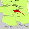 Localització d'Albal respecte de l'Horta Sud.png