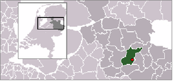 Location in Hellendoorn, Overijssel, Netherlands