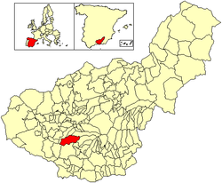 Location of El Padul