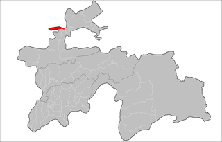 Location of Zafarobod District, Tajikistan in Tajikistan