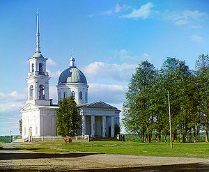 Lodeynoye Pole - Cathedral of Sts. Peter and Paul, as photographed ca. 1912 by Sergey Prokudin-Gorsky. Demolished.