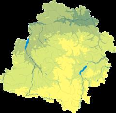 Mapa lokalizacyjna województwa łódzkiego