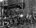 Logging crew with donkey engine, Snohomish county, ca 1925 (PICKETT 227).jpg
