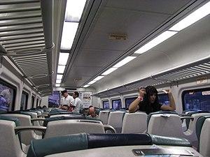 Long Island Rail Road rolling stock - Interior of an M7 rail car.