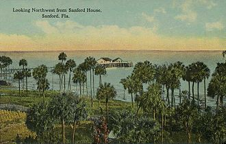 Sanford, Florida - Image: Looking Northwest from Sanford House, Sanford, FL