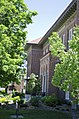 Looking oblique W at entrance to Roberts Hall - Montana State University - Bozeman, Montana - 2013-07-09.jpg