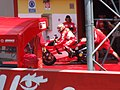 Loris Capirossi at the Ducati Marlboro Team garage 2006 Mugello 2.jpg